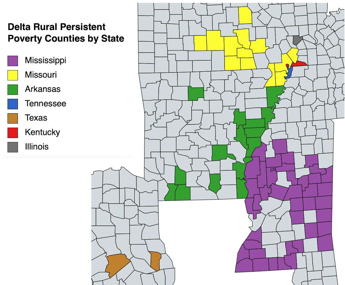 Delta Counties Map